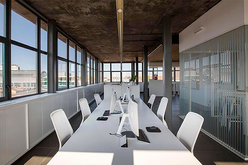 Offices Of The Bulle Architectes Agency In Bordeaux Overlooking The Gare Saint-Jean.