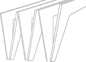 Pictogramme représentatif d'une forme architecturale forte que comporte la halle couverte du Teich réalisée par l'agence Bulle Architectes.