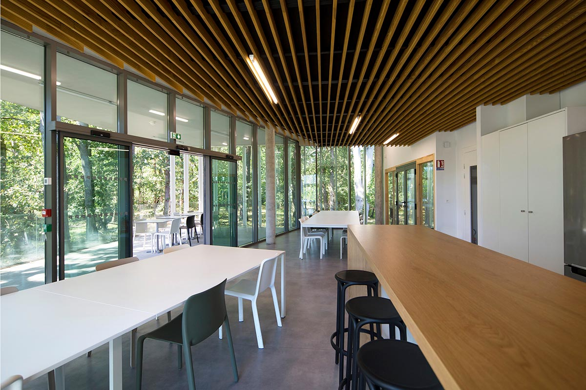 Restoration Space Of The SIBA In Biganos Realized By The Agency Bulle Architectes.