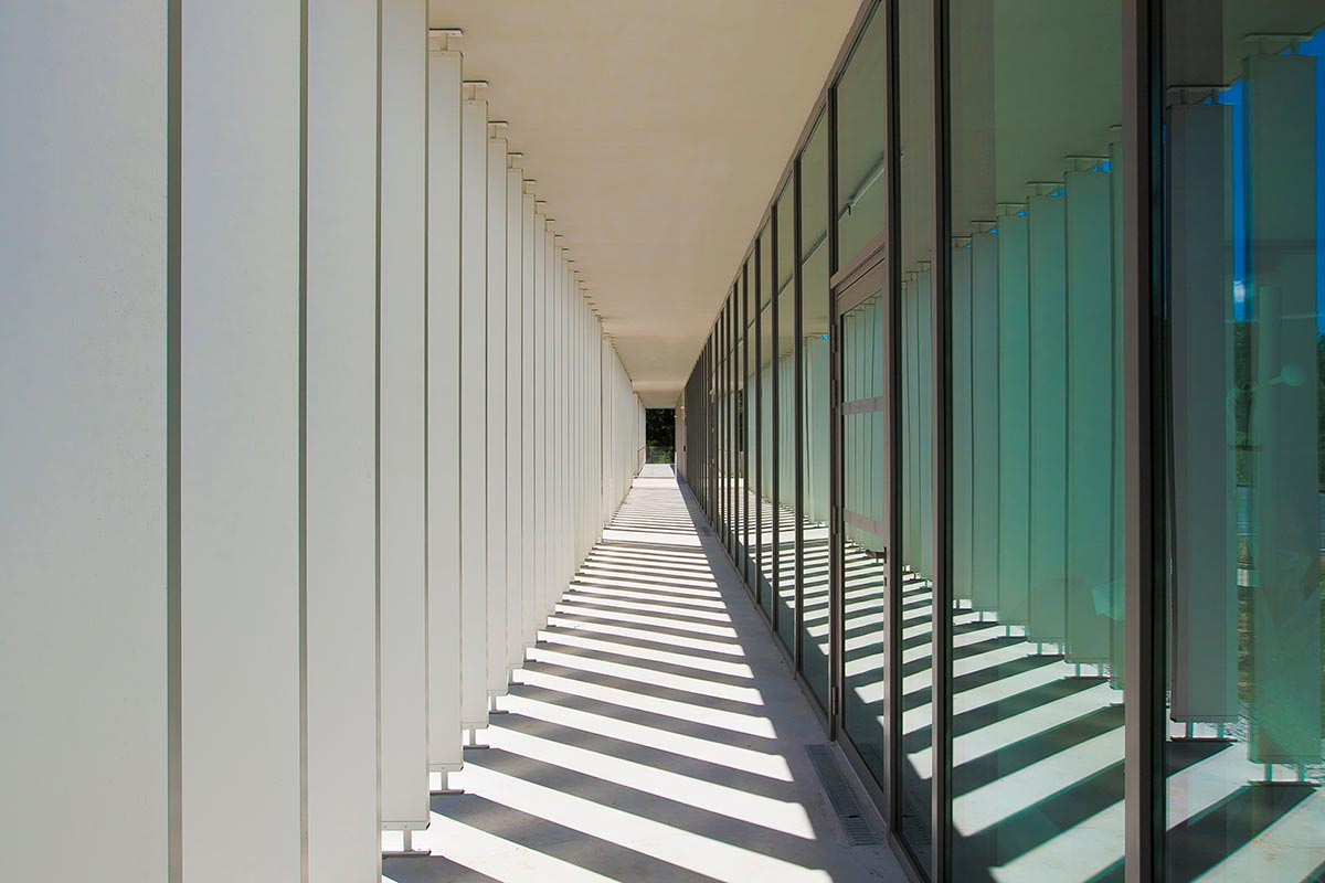 View From The Passageway Along The SIBA Built By Bulle Architectes In Biganos.