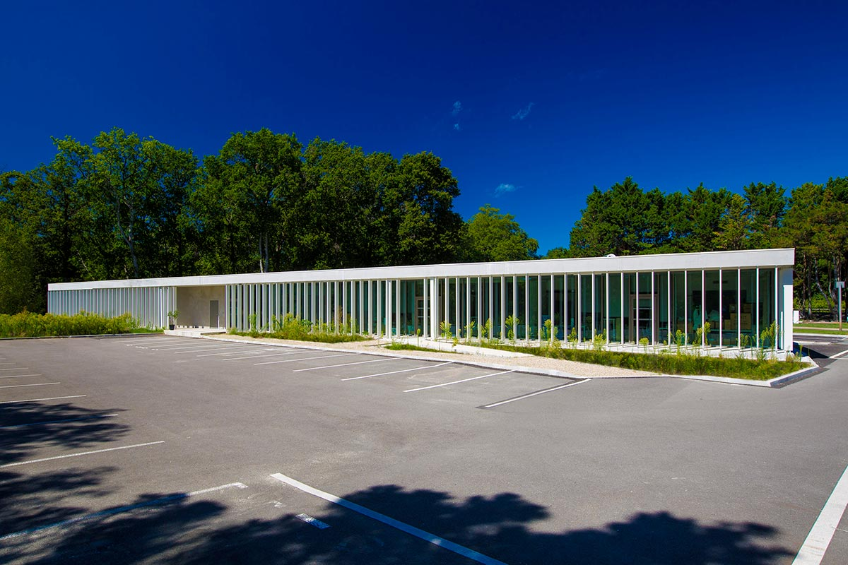 View From The Parking Lot Of The SIBA Realized By The Agency Bulle Architectes In Bordeaux.