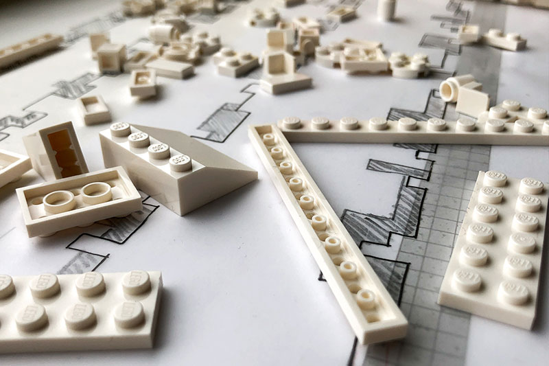 Lego En Vrac Pour Construire La Maquette D'un Projet