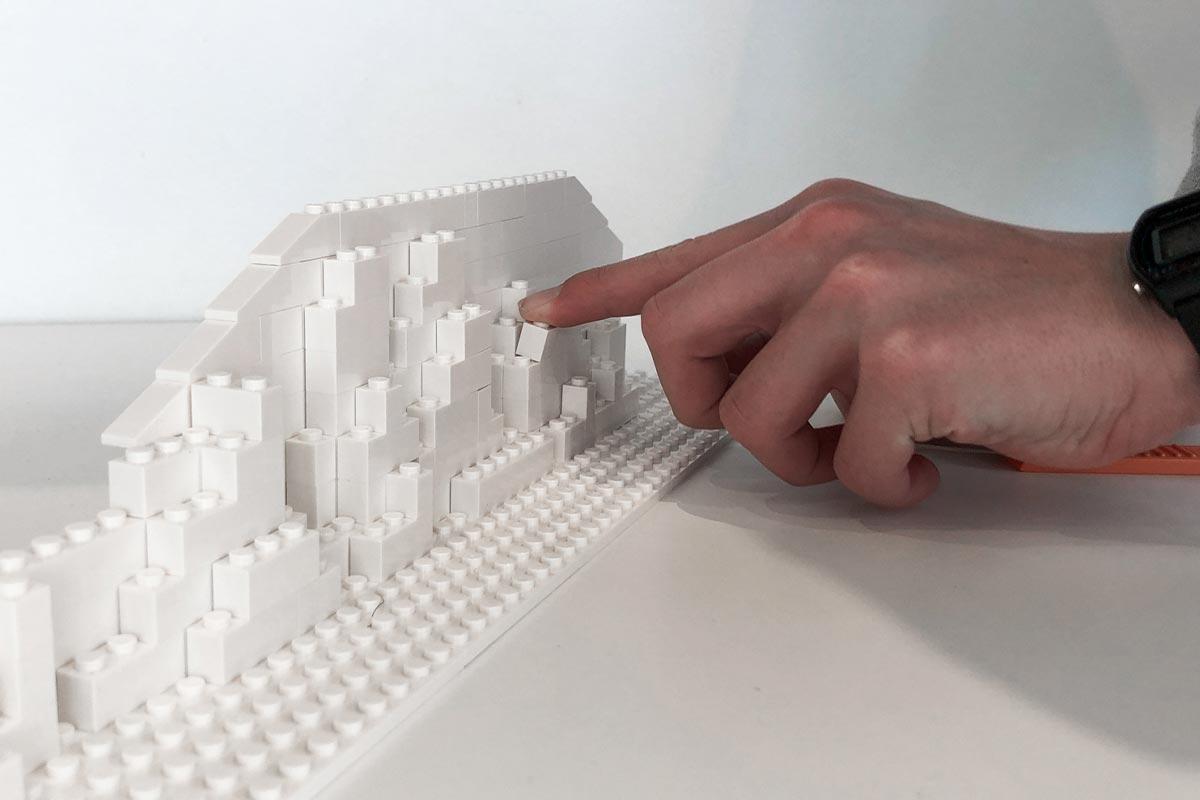 Construction D'une Maquette Pour Un Projet En Lego Blanc